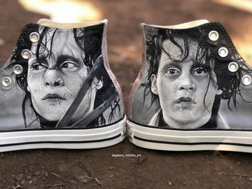 Edward Scissorhands Hand Painted Shoes