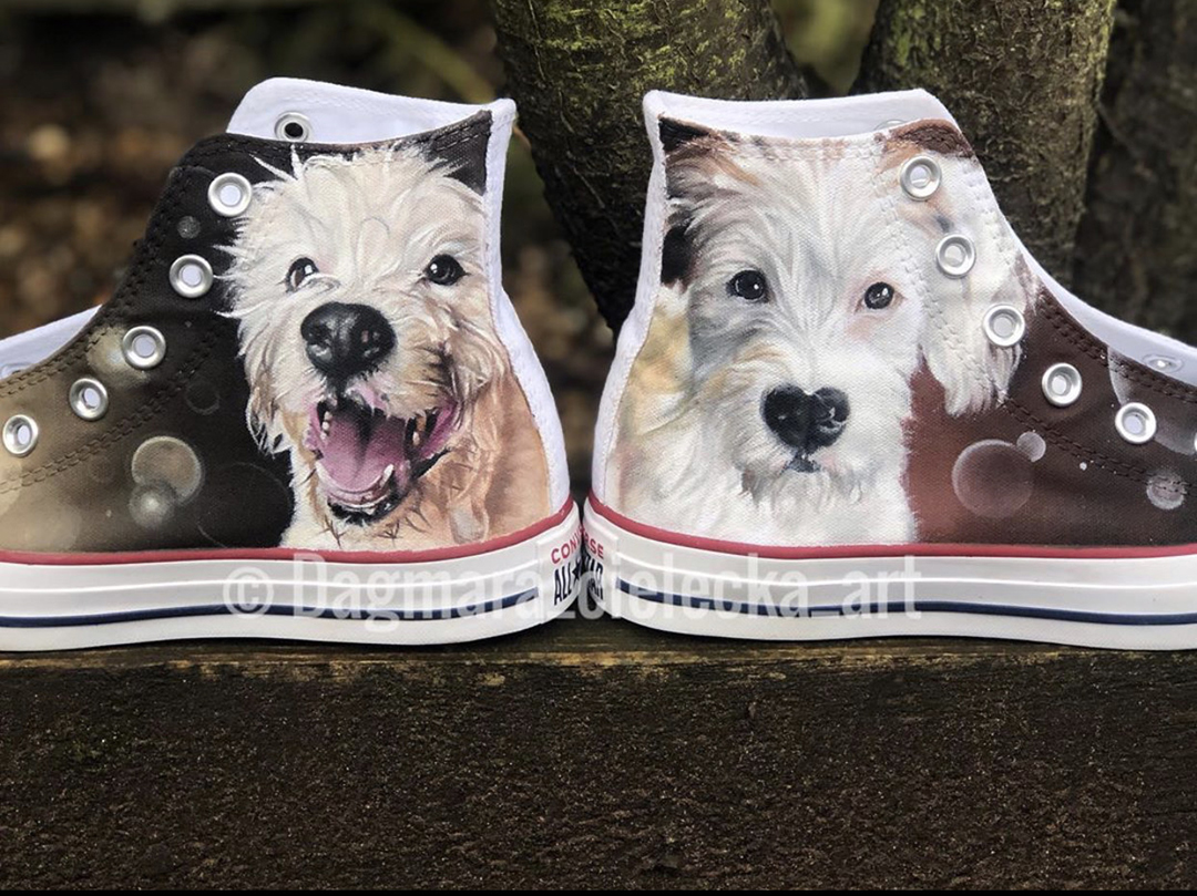 Hand painted shoes of Milo
