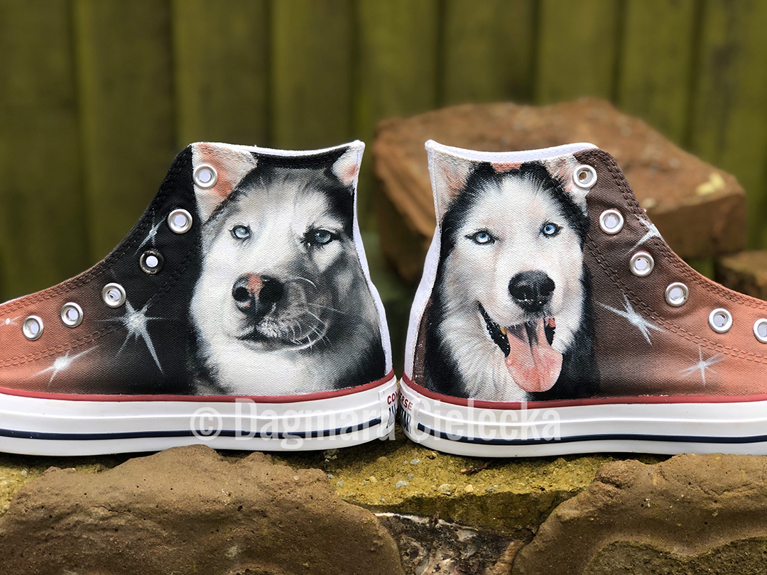 Hand Painted Converse of Nova & Shadow