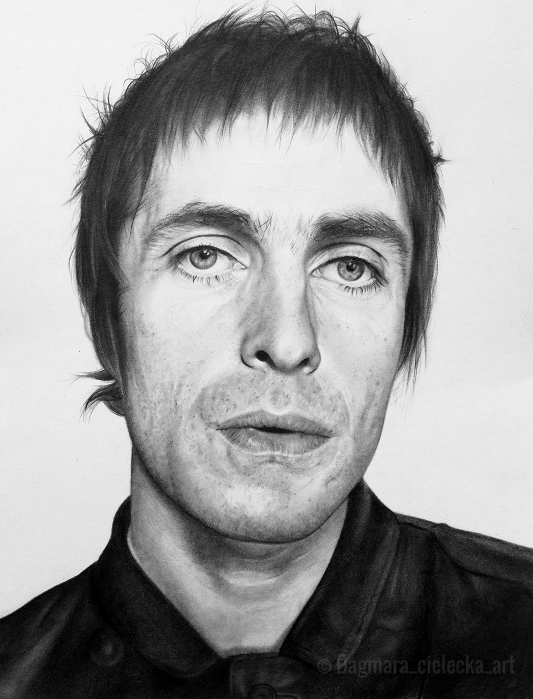 Liam Gallagher Pencil Portrait
