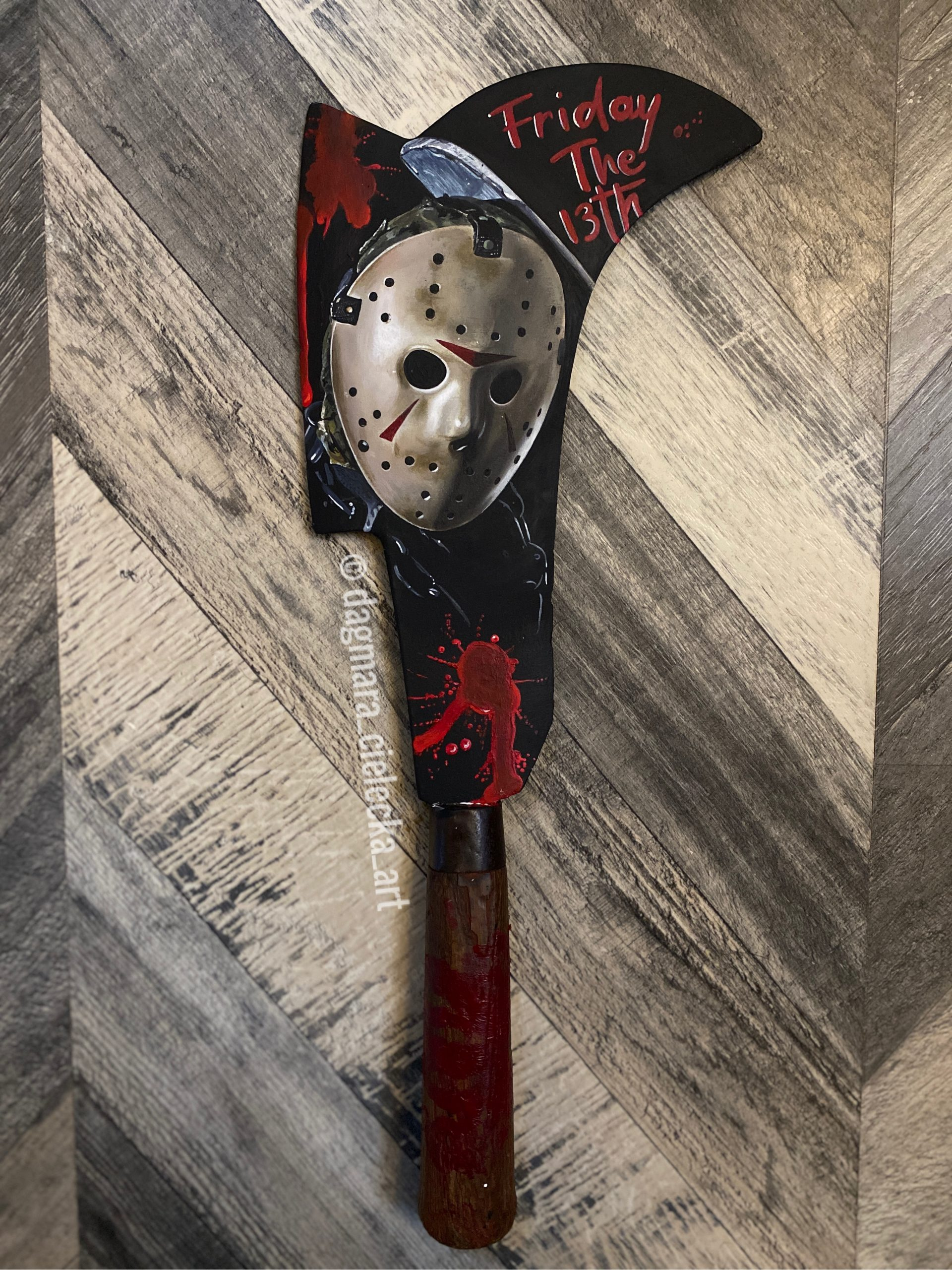 Jason Voorhees Hand Painted Billhook